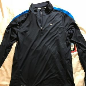 Blue Nike Long-sleeve Performance Workout Shirt
